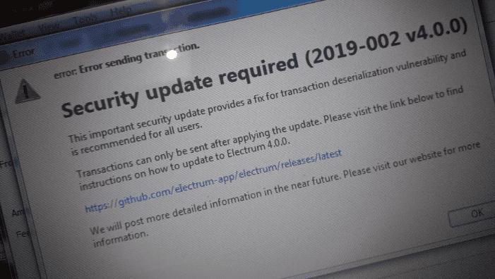 מתקפה על משתמשי ארנק ״אלקטרום״